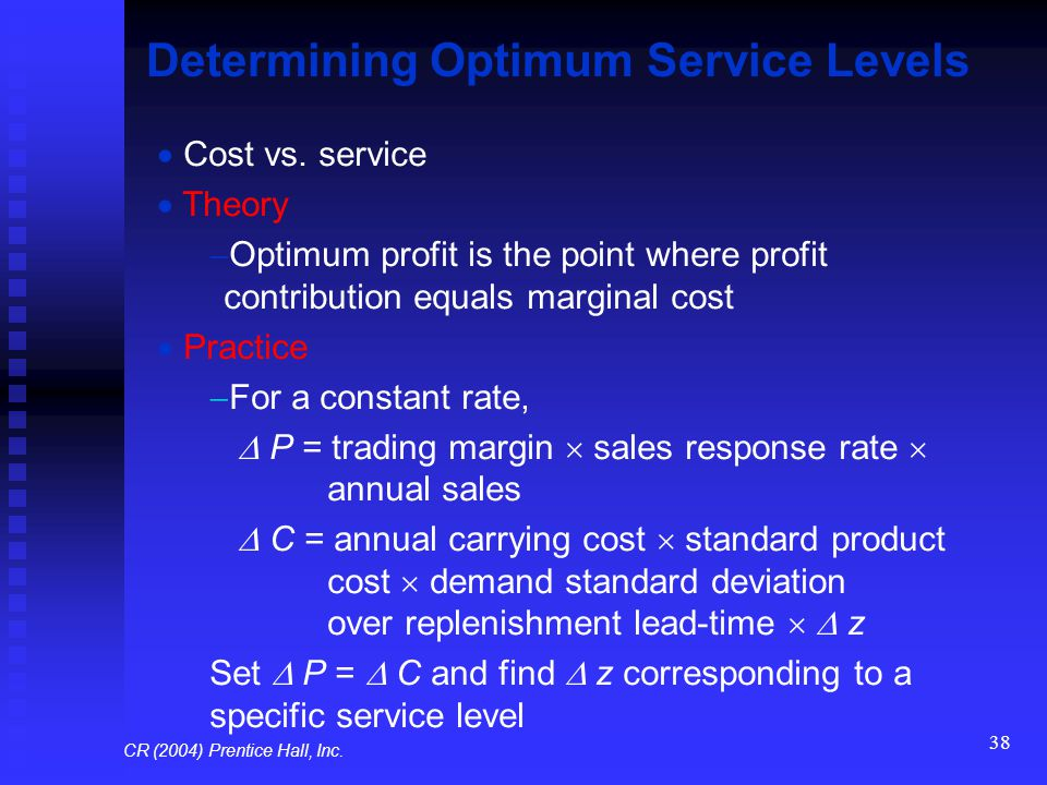 Determining Optimum Service Levels