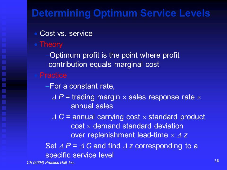 Determining Optimum Service Levels
