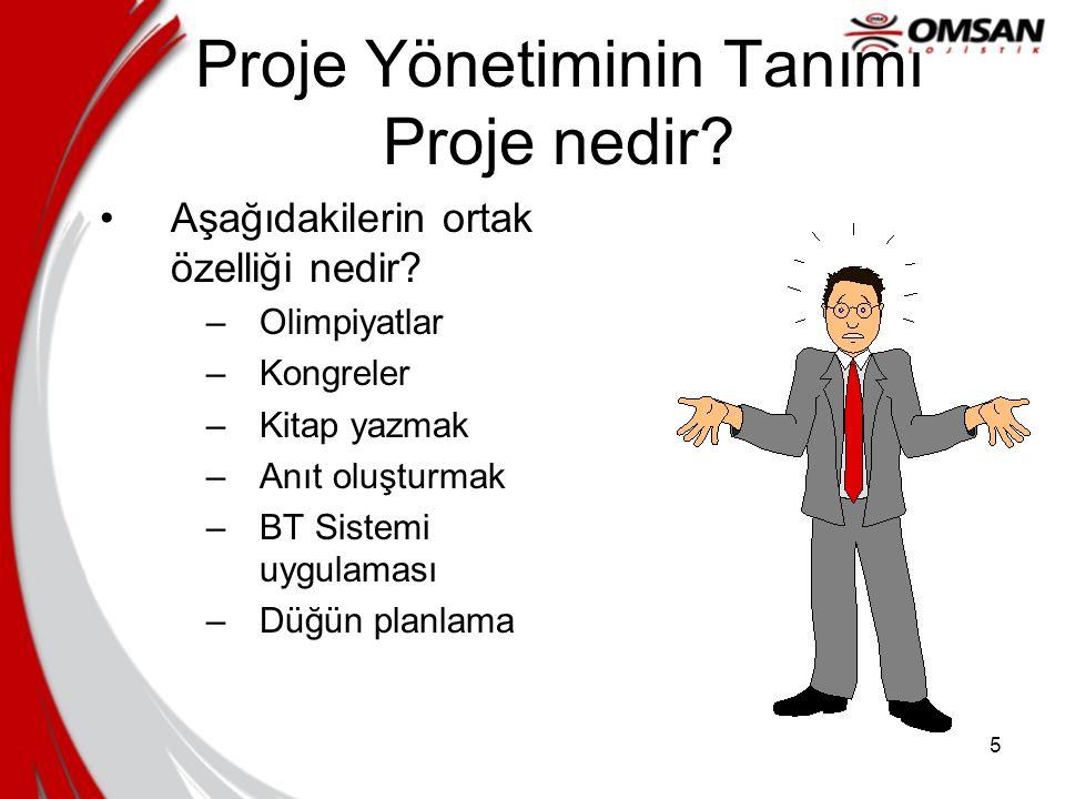 Proje Yönetiminin Tanımı Proje nedir