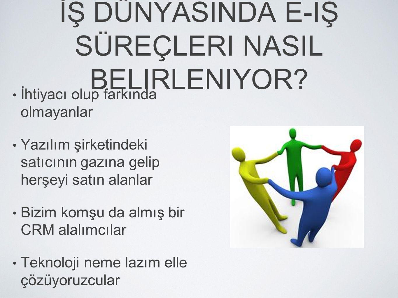 İŞ DÜNYASINDA E-IŞ SÜREÇLERI NASIL BELIRLENIYOR