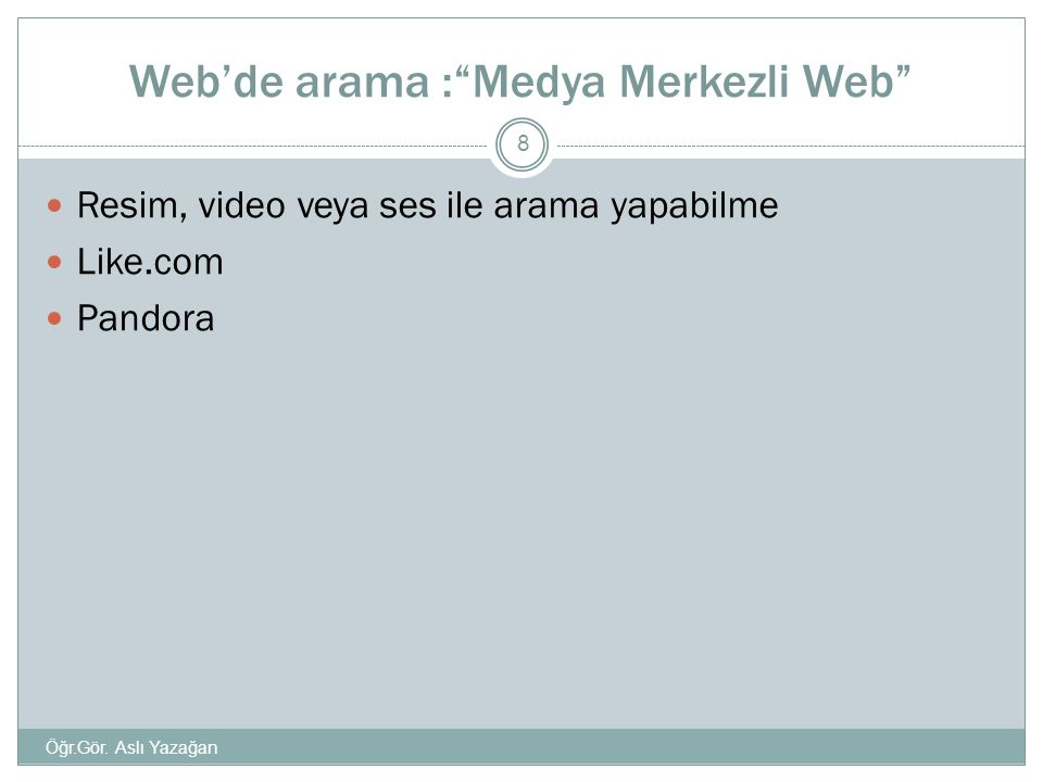 Web'de arama : Medya Merkezli Web