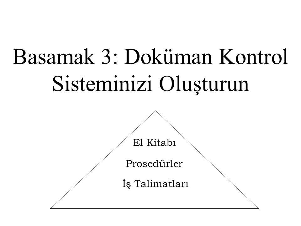 Basamak 3: Doküman Kontrol Sisteminizi Oluşturun