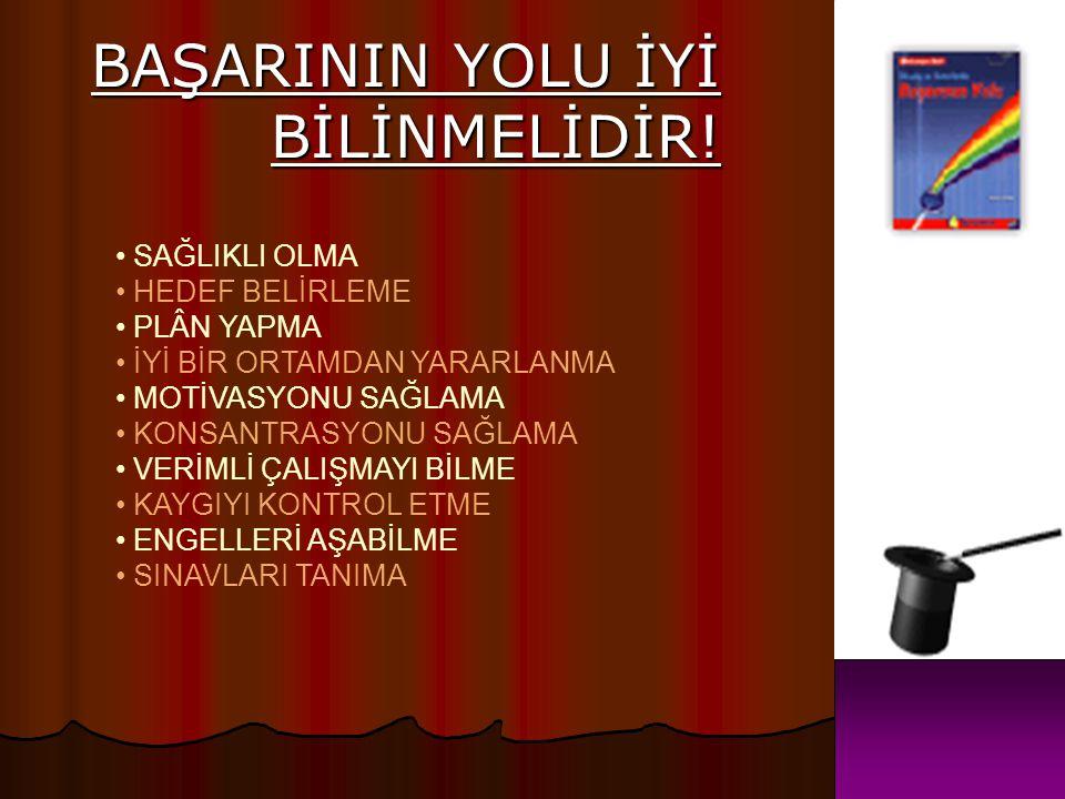 BAŞARININ YOLU İYİ BİLİNMELİDİR!