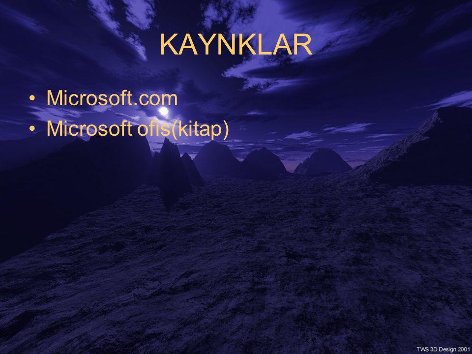 KAYNKLAR Microsoft.com Microsoft ofis(kitap)