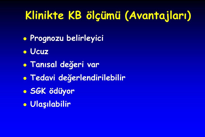 Klinikte KB ölçümü (Avantajları)
