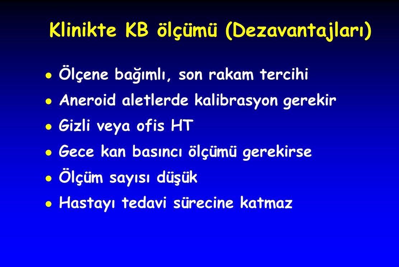 Klinikte KB ölçümü (Dezavantajları)