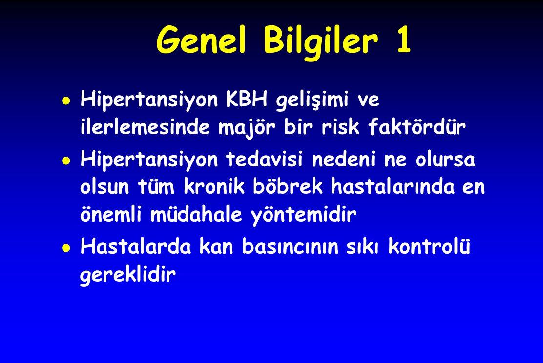 Genel Bilgiler 1 Hipertansiyon KBH gelişimi ve ilerlemesinde majör bir risk faktördür.