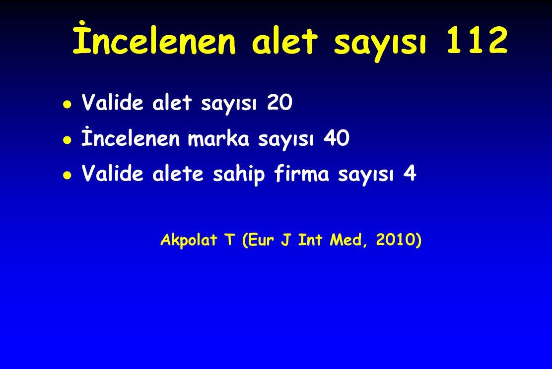 Akpolat T (Eur J Int Med, 2010)