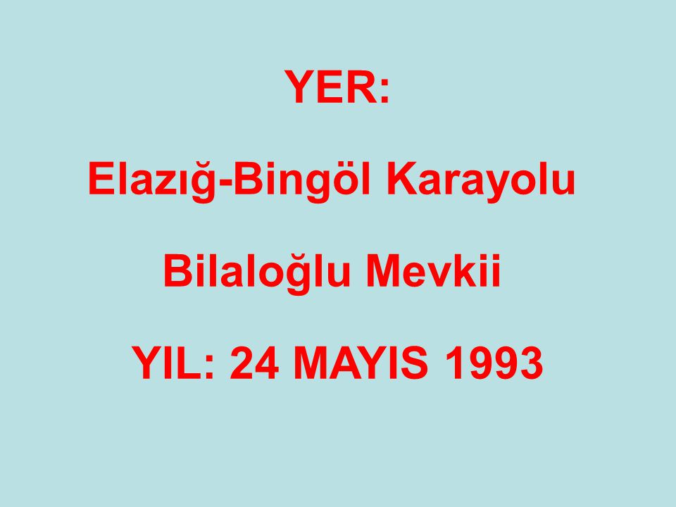 Elazığ-Bingöl Karayolu
