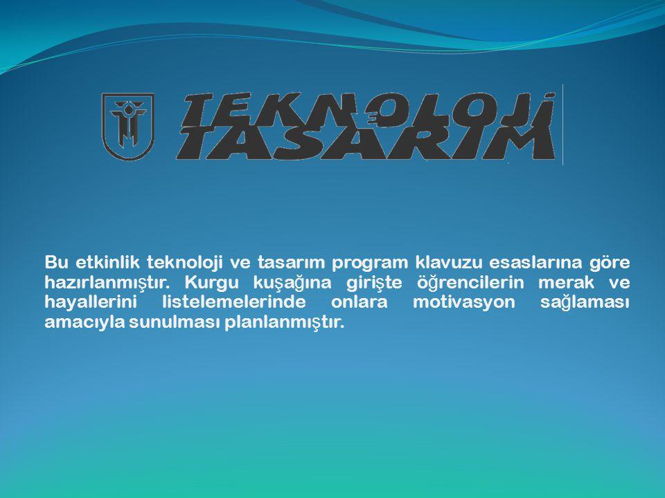 Bu etkinlik teknoloji ve tasarım program klavuzu esaslarına göre hazırlanmıştır.