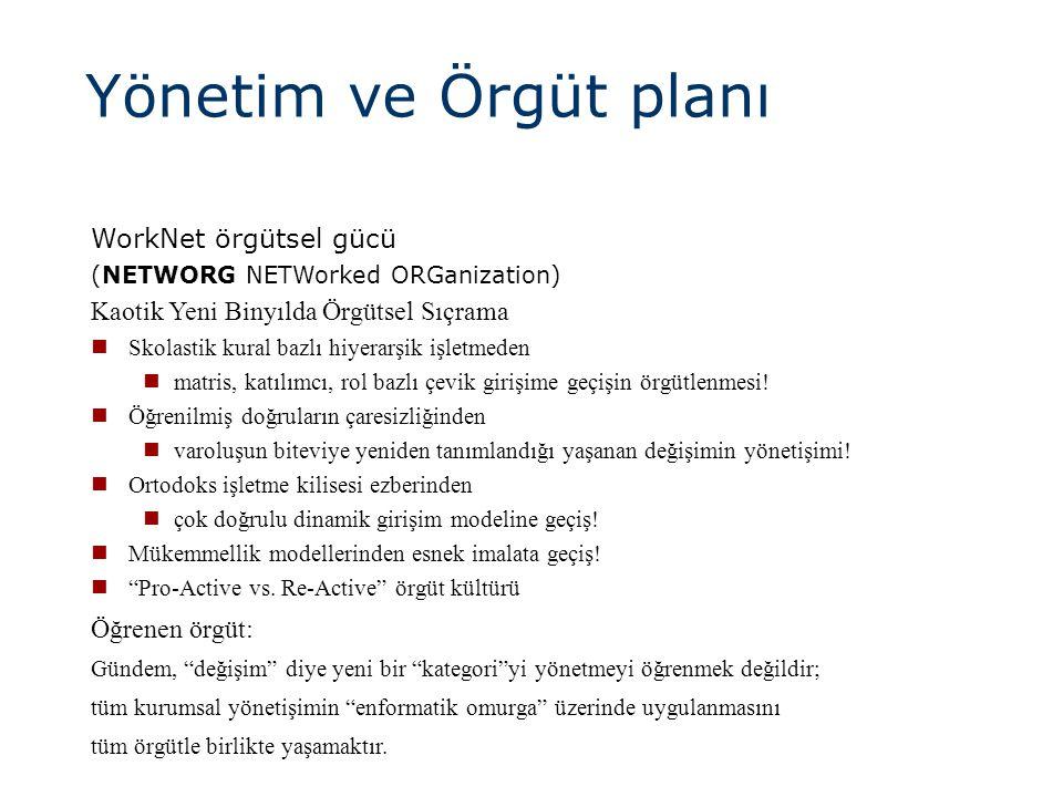 Yönetim ve Örgüt planı WorkNet örgütsel gücü