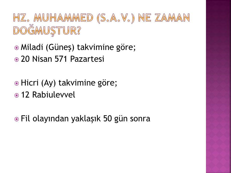 Hz. Muhammed (s.a.v.) ne zaman doğmuştur