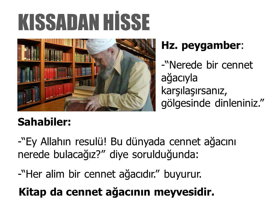 Kitap da cennet ağacının meyvesidir.