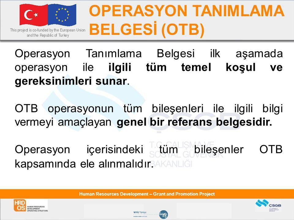 OPERASYON TANIMLAMA BELGESİ (OTB)