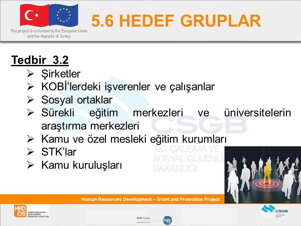 5.6 HEDEF GRUPLAR Tedbir 3.2 Şirketler