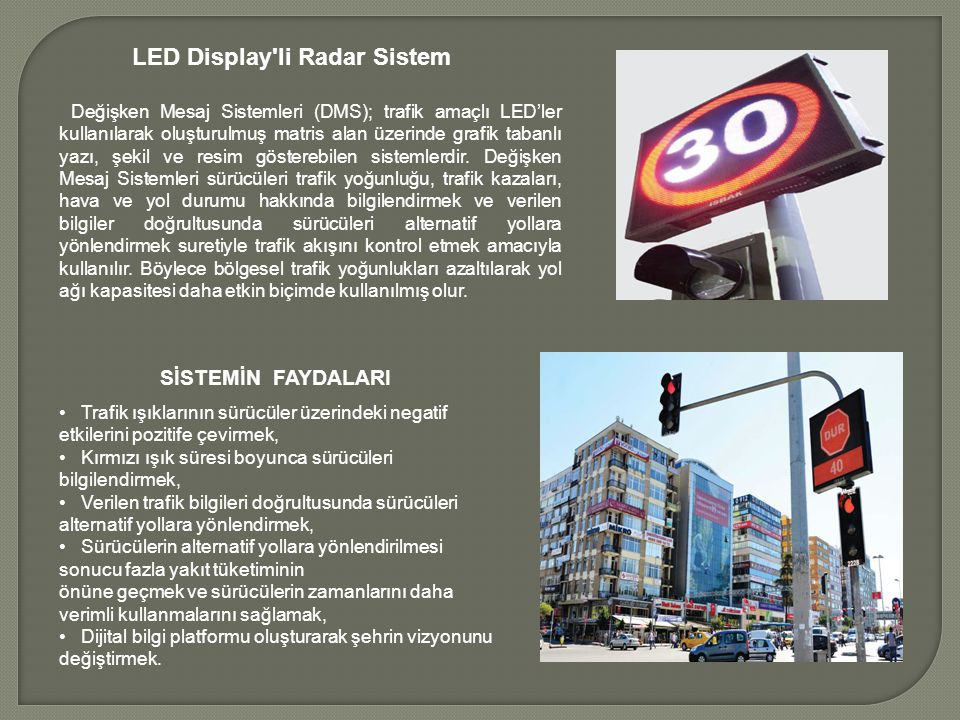 LED Display li Radar Sistem
