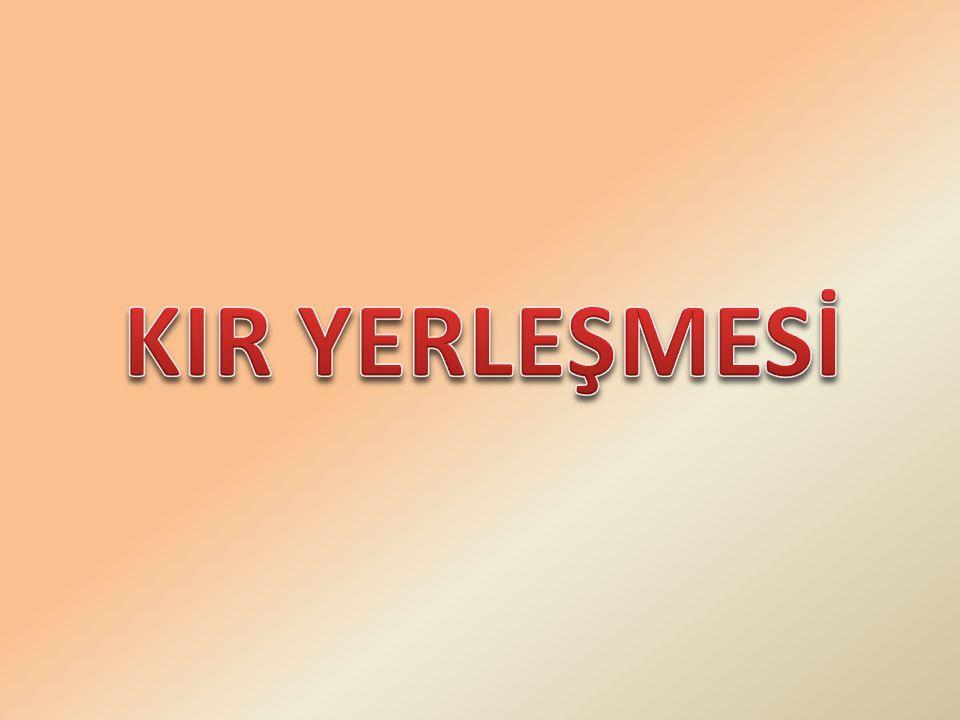 KIR YERLEŞMESİ