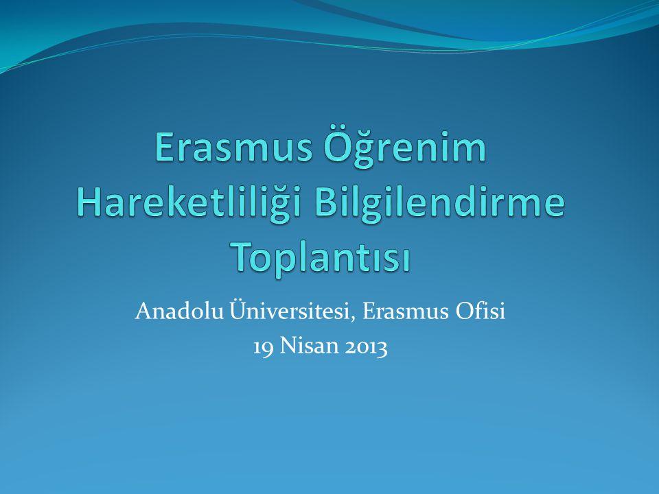 Erasmus Öğrenim Hareketliliği Bilgilendirme Toplantısı