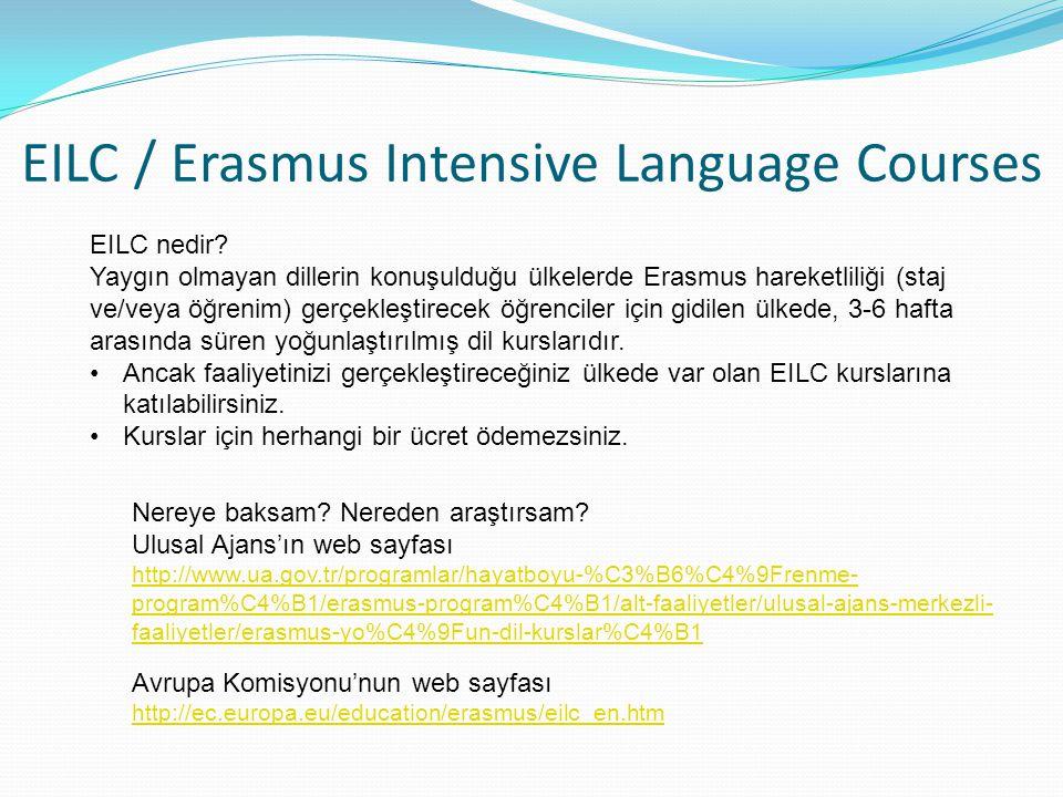 EILC / Erasmus Intensive Language Courses