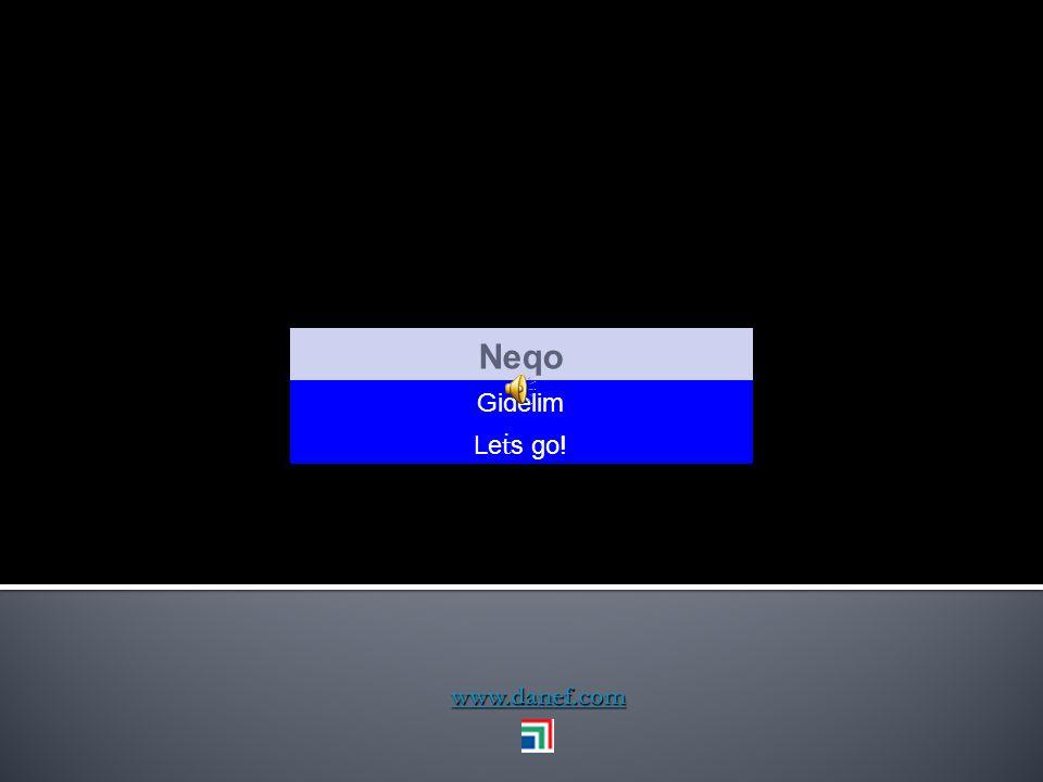 Neqo Gidelim Leṫs go! www.danef.com