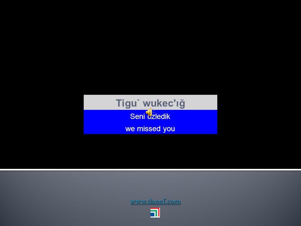 Tigu` wukec ığ Seni özledik we missed you www.danef.com