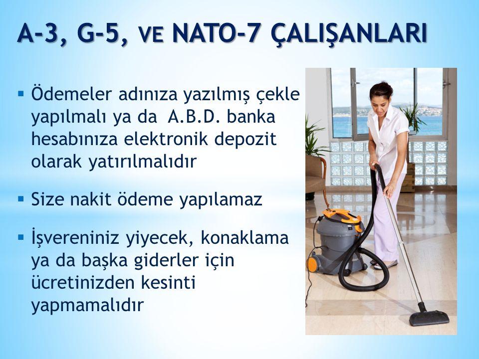 A-3, G-5, ve NATO-7 ÇALIŞANLARI