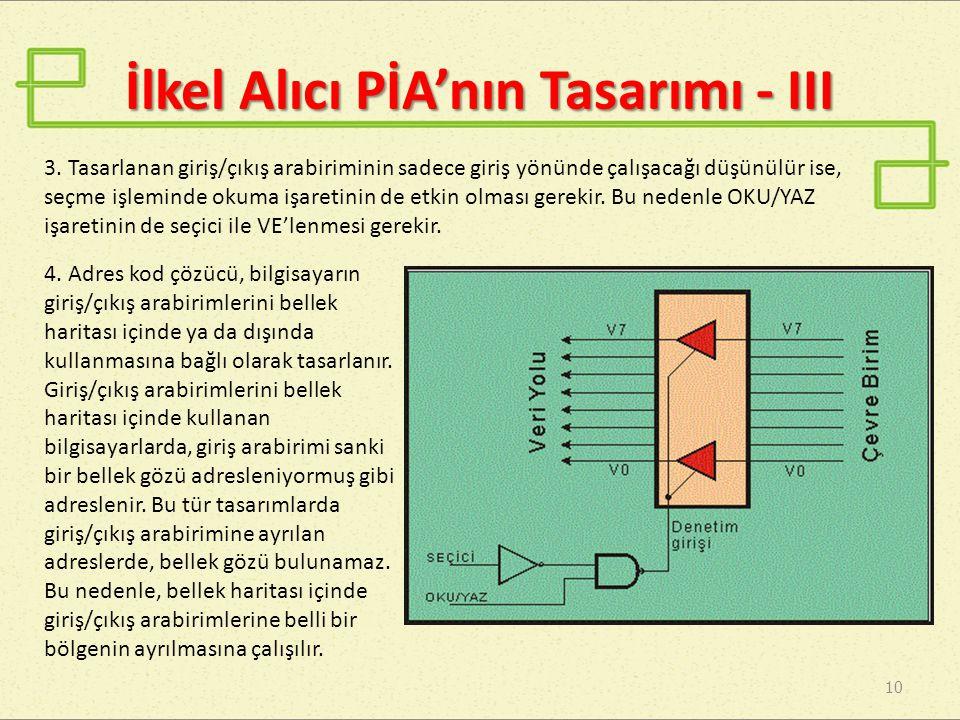 İlkel Alıcı PİA'nın Tasarımı - III