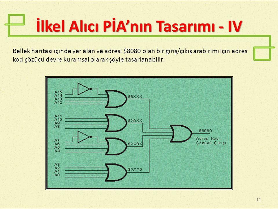 İlkel Alıcı PİA'nın Tasarımı - IV