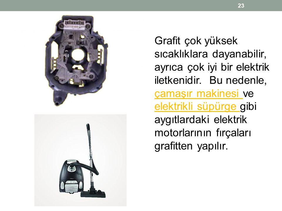 Grafit çok yüksek sıcaklıklara dayanabilir, ayrıca çok iyi bir elektrik iletkenidir.