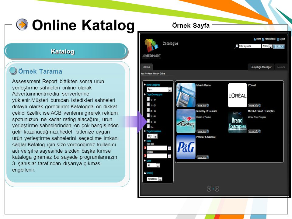 Online Katalog Örnek Sayfa Katalog Örnek Tarama