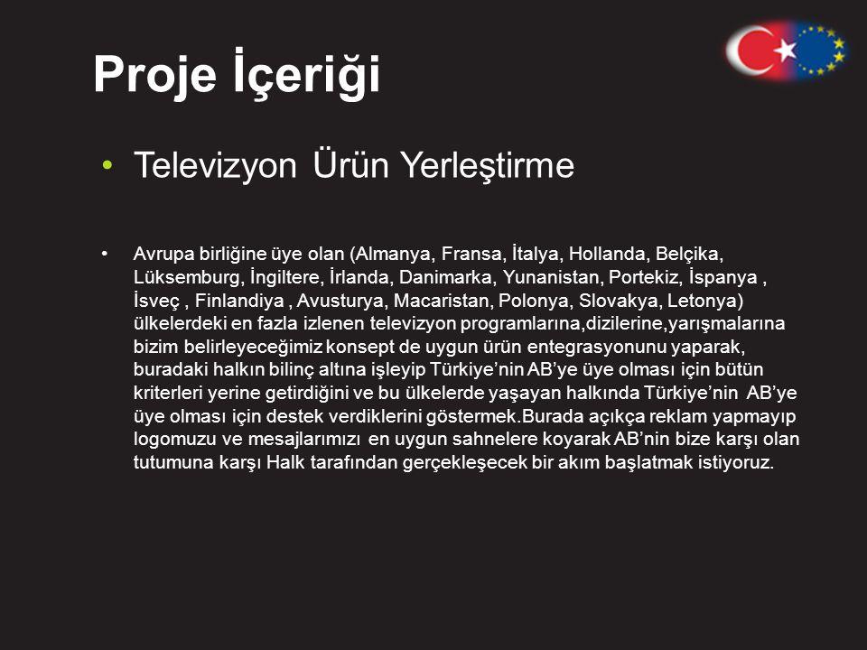 Proje İçeriği Televizyon Ürün Yerleştirme