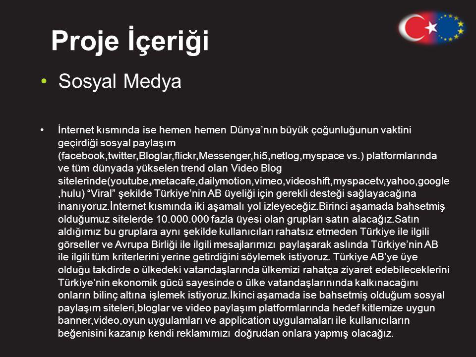 Proje İçeriği Sosyal Medya