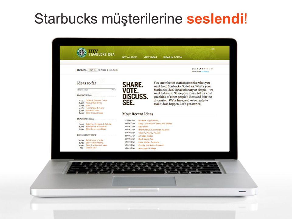 Starbucks müşterilerine seslendi!