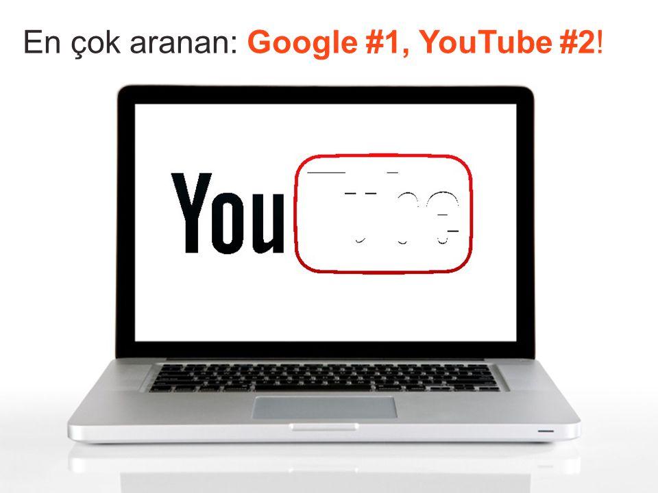 En çok aranan: Google #1, YouTube #2!