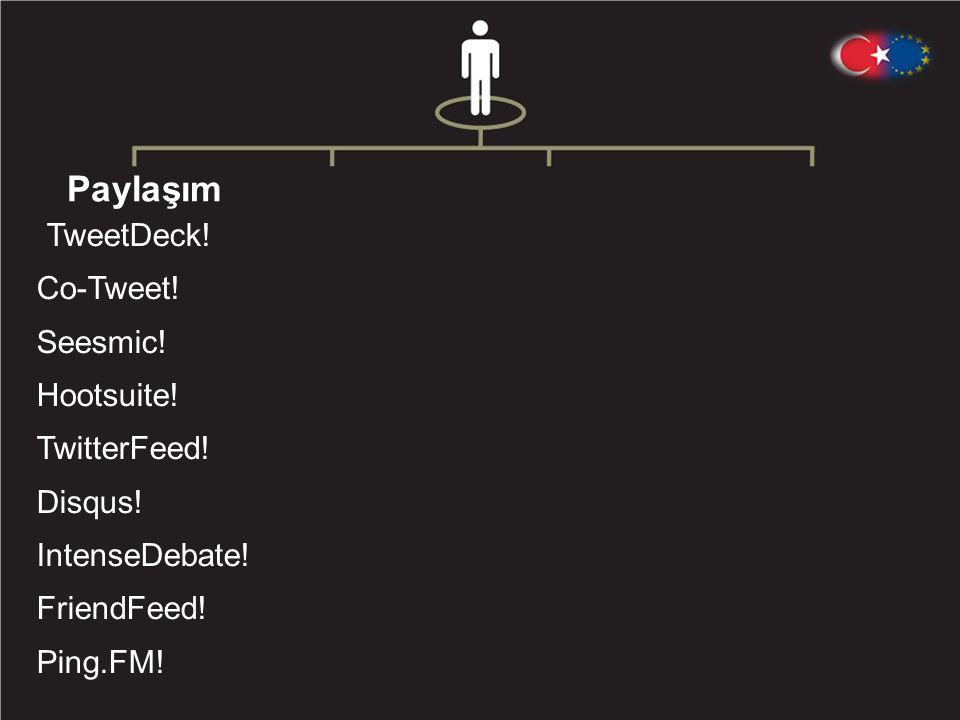 Paylaşım TweetDeck. Co-Tweet. Seesmic. Hootsuite.