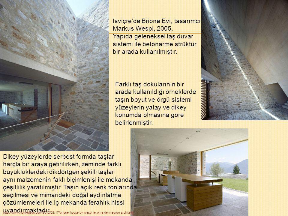 İsviçre'de Brione Evi, tasarımcı: Markus Wespi, 2005,