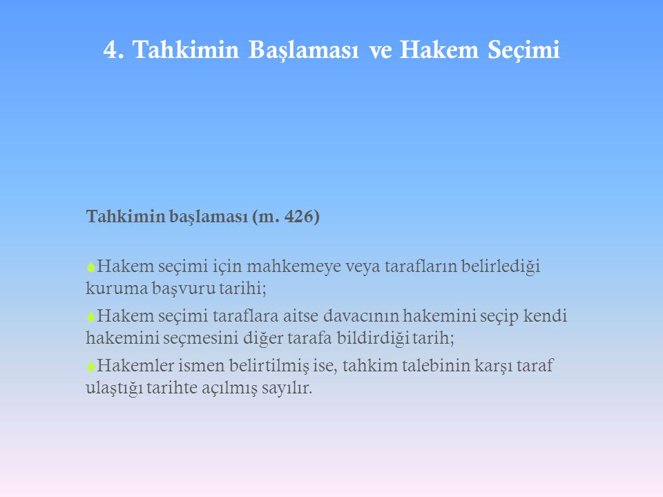 4. Tahkimin Başlaması ve Hakem Seçimi