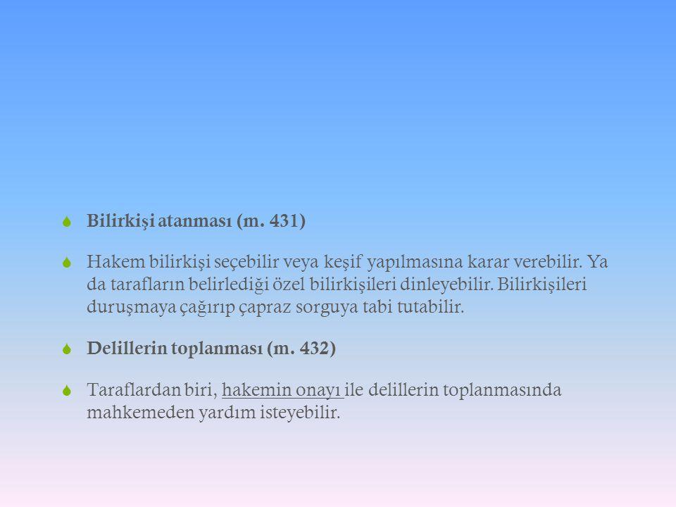 Bilirkişi atanması (m. 431)