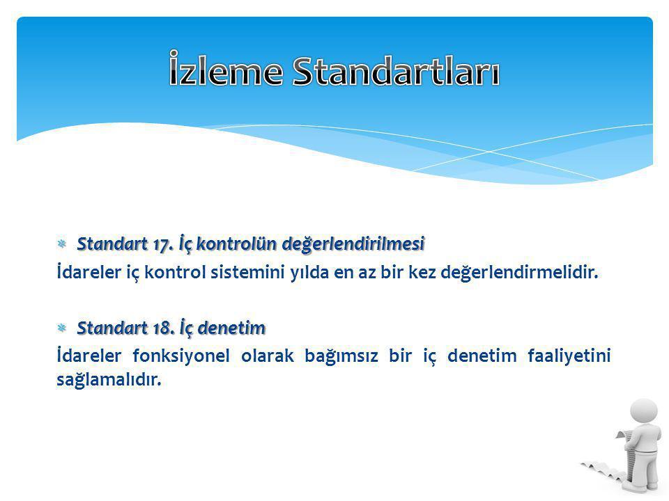 İzleme Standartları Standart 17. İç kontrolün değerlendirilmesi