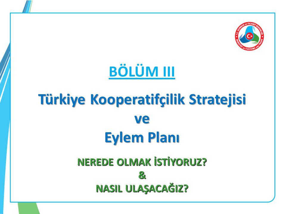 Türkiye Kooperatifçilik Stratejisi NEREDE OLMAK İSTİYORUZ