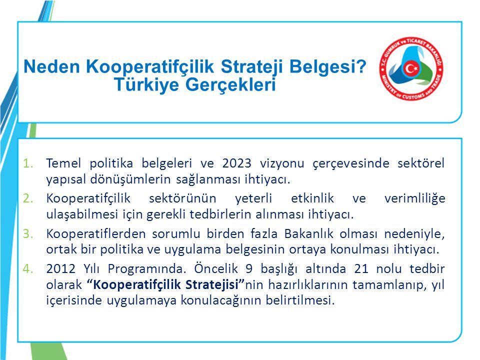 Neden Kooperatifçilik Strateji Belgesi Türkiye Gerçekleri