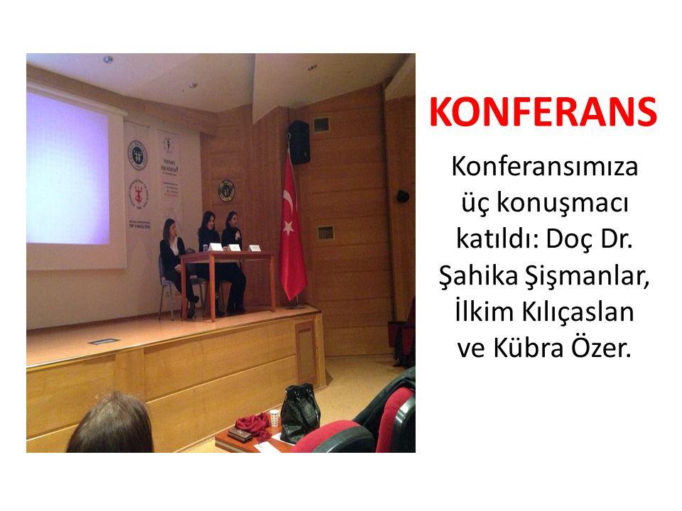 Konferansımıza üç konuşmacı katıldı: Doç Dr