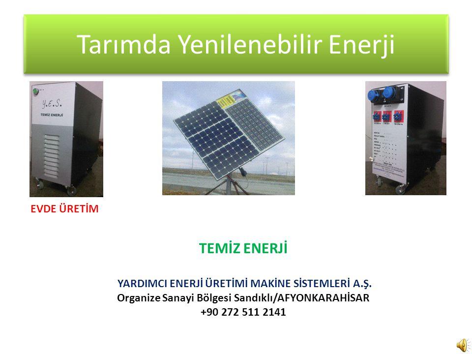 Tarımda Yenilenebilir Enerji