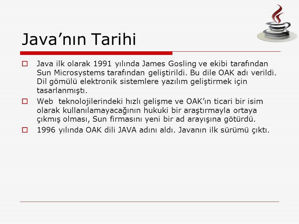 Java'nın Tarihi
