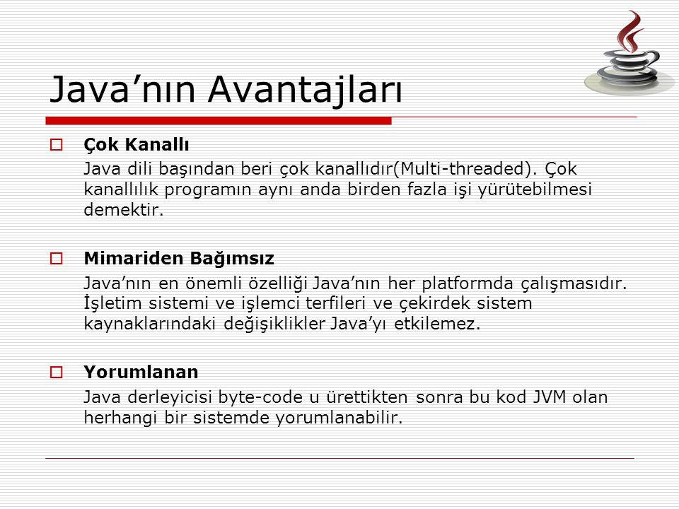Java'nın Avantajları Çok Kanallı