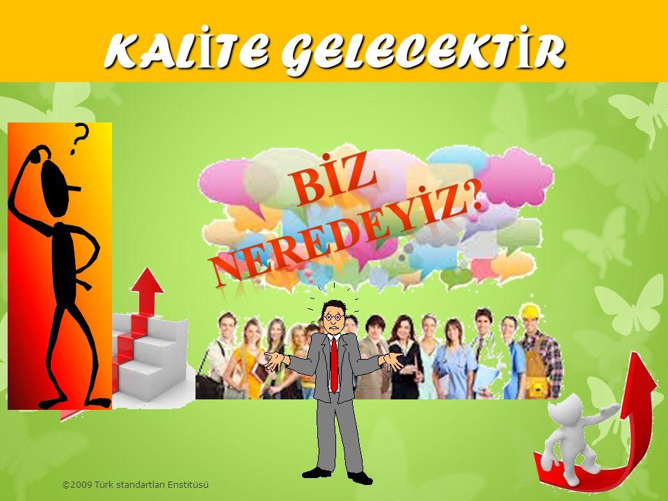 KALİTE GELECEKTİR BİZ NEREDEYİZ ©2009 Türk standartları Enstitüsü