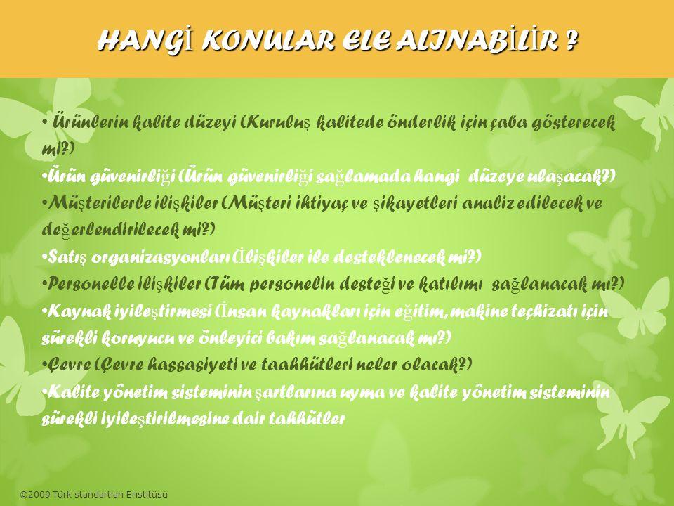 HANGİ KONULAR ELE ALINABİLİR