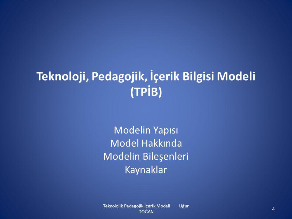 Teknoloji, Pedagojik, İçerik Bilgisi Modeli (TPİB)