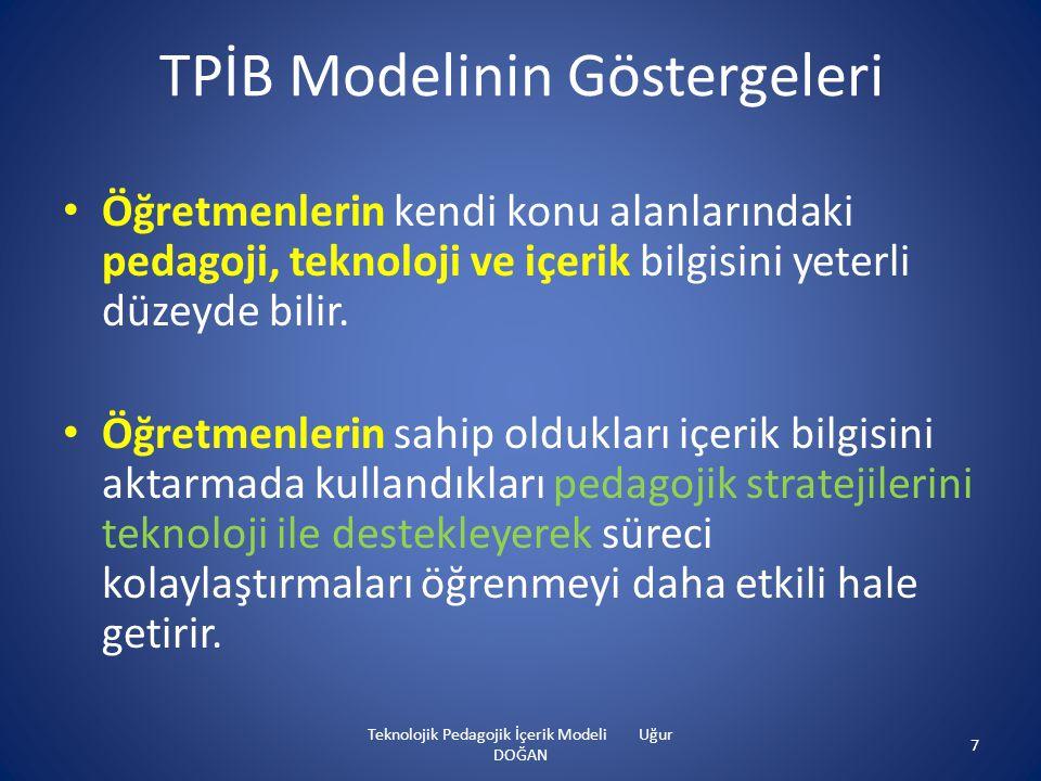 TPİB Modelinin Göstergeleri