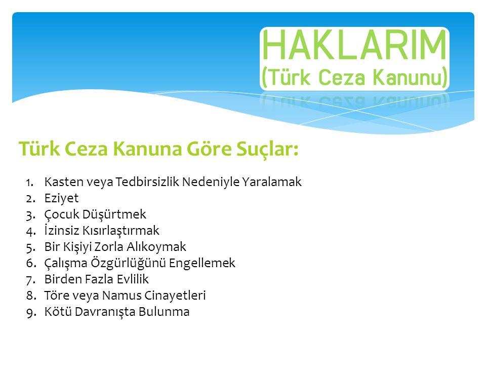 Türk Ceza Kanuna Göre Suçlar: